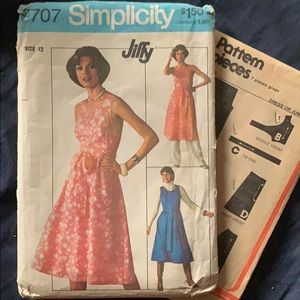 Vintage Simplicity Jiffy Wrap Dress Sewing Pattern